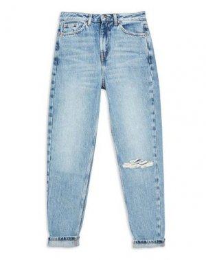 Джинсовые брюки TOPSHOP. Цвет: синий
