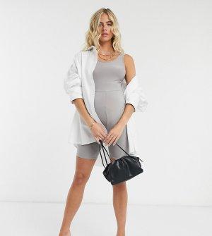 Серый юнитард Fashionkilla Maternity