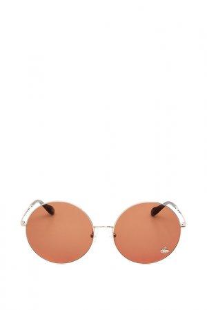 Очки солнцезащитные с линзами Vivienne Westwood. Цвет: 02 серебристый