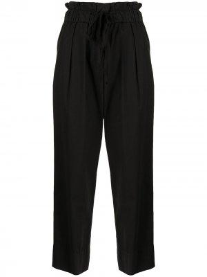 Укороченные брюки с кулиской Sea. Цвет: черный