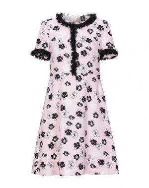 Короткое платье 1-ONE. Цвет: светло-розовый