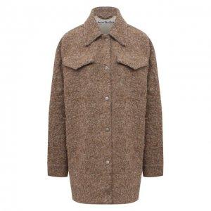 Шерстяная куртка Acne Studios. Цвет: кремовый