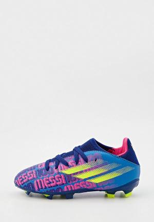 Бутсы adidas X SPEEDFLOW MESSI.3 FG J. Цвет: синий