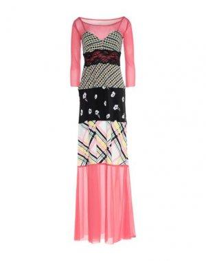 Длинное платье PIANURASTUDIO. Цвет: розовый