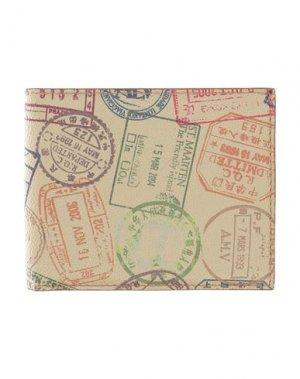 Бумажник ALV ANDARE LONTANO VIAGGIANDO. Цвет: песочный