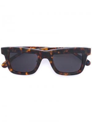 Солнцезащитные очки с квадратной оправой Italia Independent. Цвет: коричневый