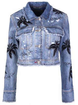 Джинсовая куртка Aloha Plein Philipp. Цвет: разноцветный