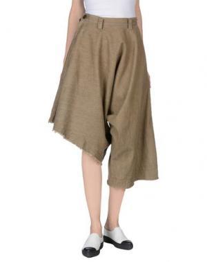 Джинсовые брюки-капри Y'S YOHJI YAMAMOTO. Цвет: хаки