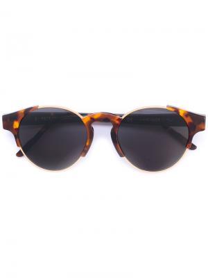 Солнцезащитные очки с круглой оправой Retrosuperfuture. Цвет: коричневый