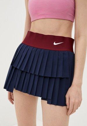 Юбка Nike W NKCT DF ADVTG SKIRT PLEATED. Цвет: синий