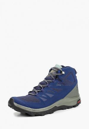 Ботинки трекинговые Salomon OUTline Mid GTX. Цвет: синий