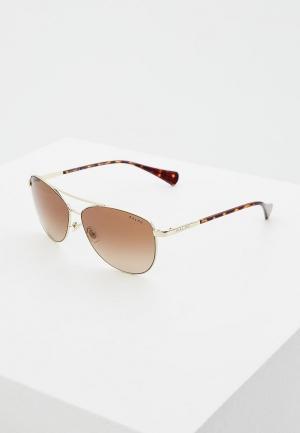 Очки солнцезащитные Ralph Lauren RA4122 323313. Цвет: золотой