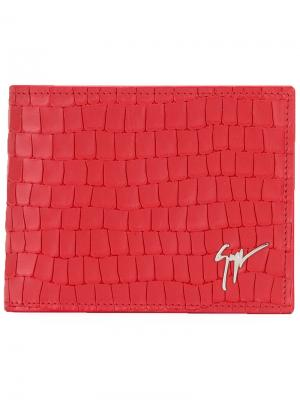 Бумажник Albert Giuseppe Zanotti Design. Цвет: красный