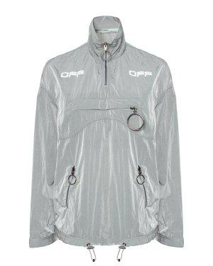 Анорак OWEA205R20H140940601 38 серый Off-White. Цвет: серый