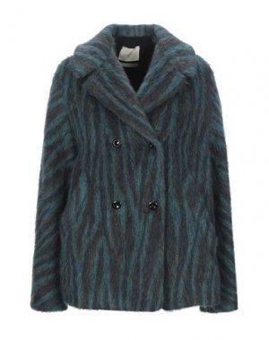 Пальто MOMONÍ. Цвет: зеленый