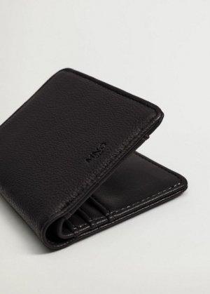 Фактурный бумажник с карманом - Elastic Mango. Цвет: черный