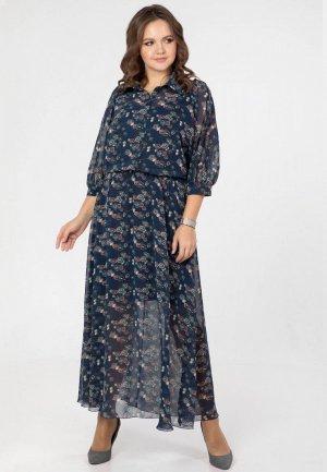 Платье Prima Linea. Цвет: синий