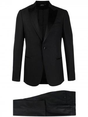 Вечерний пиджак с атласными лацканами Z Zegna. Цвет: черный