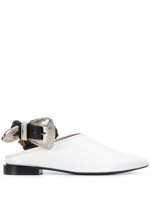 Броги с заостренным носком Toga Pulla. Цвет: белый