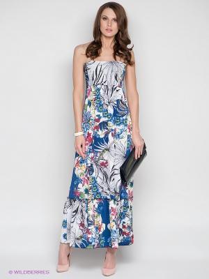 Платье DRS Deerose. Цвет: синий, белый