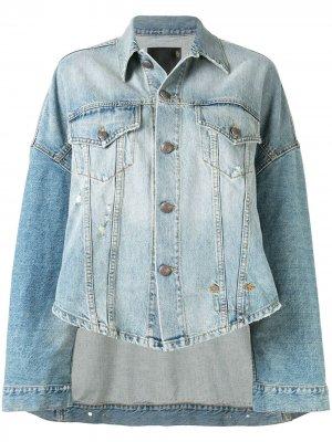 Джинсовая куртка оверсайз Max R13. Цвет: синий
