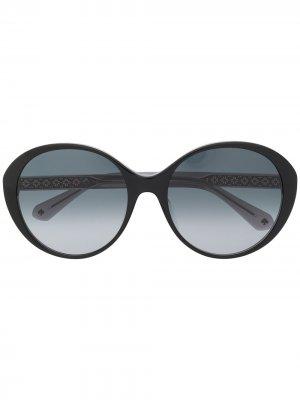 Солнцезащитные очки Odetta в массивной оправе Kate Spade. Цвет: черный