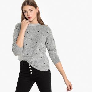 Пуловер с вышивкой звезды BEST MOUNTAIN. Цвет: антрацит