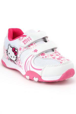 Полуботинки Hello Kitty. Цвет: белый, розовый
