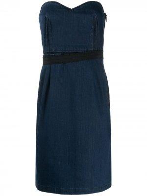 Джинсовое платье мини 1990-х годов LANVIN Pre-Owned. Цвет: синий
