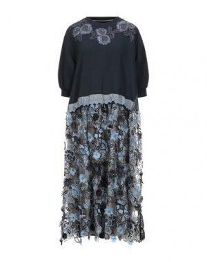 Платье длиной 3/4 ANTONIO MARRAS. Цвет: темно-синий