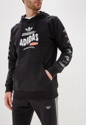 Худи adidas Originals BODEGA HOODIE. Цвет: черный