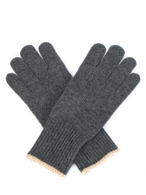 Вязаные перчатки из кашемира BRUNELLO CUCINELLI. Цвет: серый