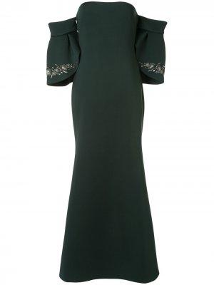 Длинное платье на одно плечо Badgley Mischka