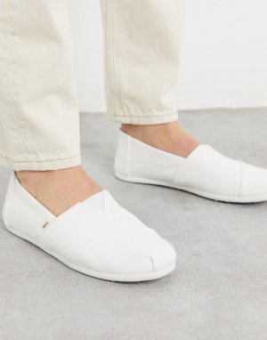 Белые классические парусиновые эспадрильи -Белый Toms