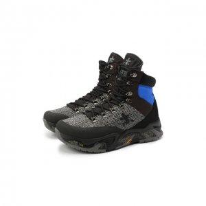 Комбинированные ботинки Fitztrec Premiata. Цвет: серый