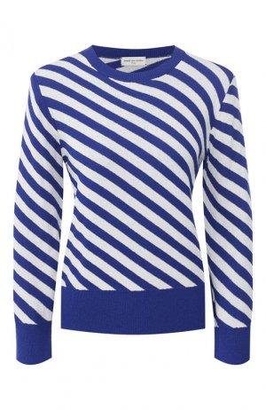 Пуловер в полоску Dries Van Noten. Цвет: синий