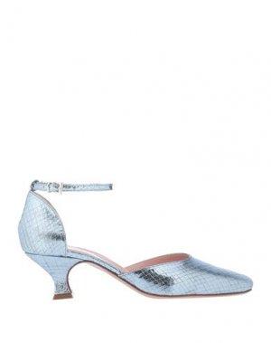 Туфли ANNA F.. Цвет: небесно-голубой
