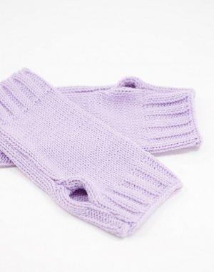Сиреневые митенки -Фиолетовый цвет ASOS DESIGN