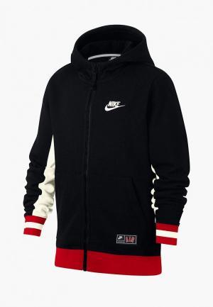 Толстовка Nike B NK AIR HOODIE FZ. Цвет: черный