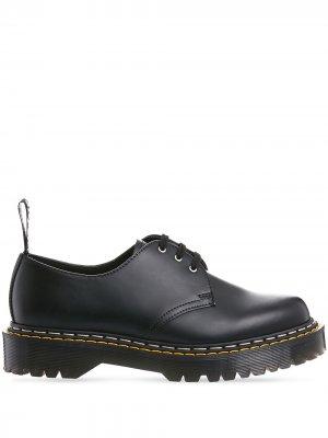 Туфли дерби из коллаборации с Dr. Martens Rick Owens. Цвет: черный
