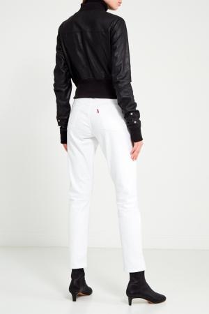 Черная кожаная куртка Rick Owens. Цвет: черный