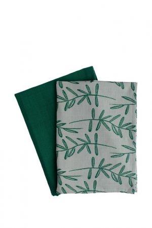 Набор кухонных полотенец 50х70 Tkano. Цвет: зеленый