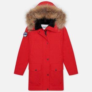 Женская куртка парка Chill Arctic Explorer. Цвет: красный