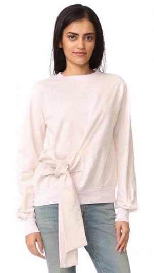 Long Sleeve Sweatshirt with Bow Clu