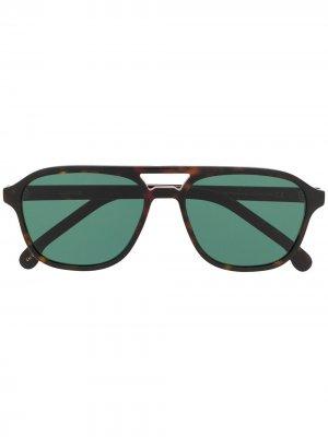 Солнцезащитные очки Alder Paul Smith. Цвет: коричневый