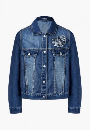 Куртка джинсовая Gulliver. Цвет: синий