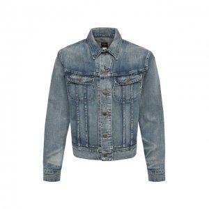 Джинсовая куртка RRL. Цвет: синий