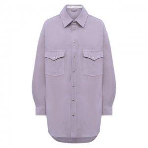 Замшевая рубашка Iro. Цвет: сиреневый