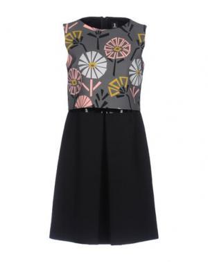 Короткое платье 1-ONE. Цвет: свинцово-серый