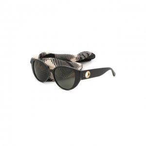 Солнцезащитные очки и платок Linda Farrow. Цвет: чёрный